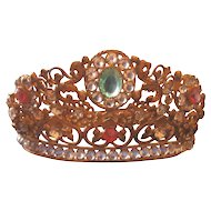 Very Ornate Santos Paste crown Beautiful Colours!