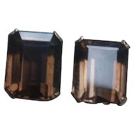 14k Rose Gold Smokey Quartz Earrings