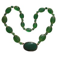 1930's Germany Chrysoprase Necklace
