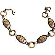 1920's Egyptian Revival Sterling Enamel bracelet