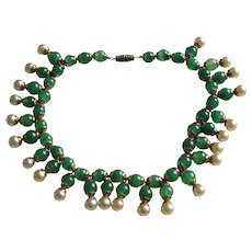 Louis Rousselet French Glass Fringe Necklace