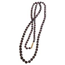 Victorian Amethyst Bead Necklace