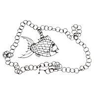 Artisan Fish Pendant Attributed to Henry Joe Polise