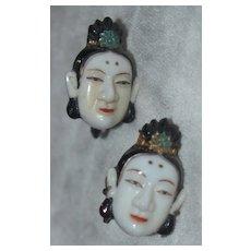 Japanese Toshikane Warrior Earrings