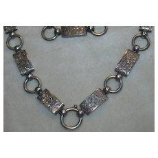 Substantial Victorian Sterling Link Necklace