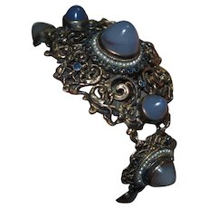The Most Incredible Austro Hungarian Bracelet With Chalcedony Bullet Cabs