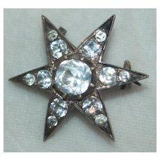 Victorian Paste Star Brooch