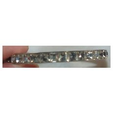 Art Deco Channel Set Paste Bracelet In Silver