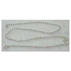 Platinum Pearl Chain Necklace