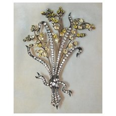 Massive Victorian Paste Brooch or Hair Ornament
