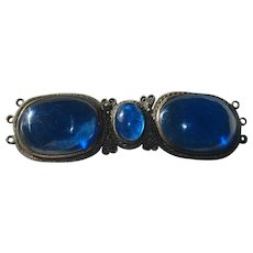 Qing Dynasty Royal Blue Peking Glass Buckle