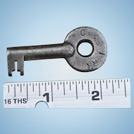 Vintage Chicago & Eastern Illinois Railroad Steel Switch Key C&EIRR Railway