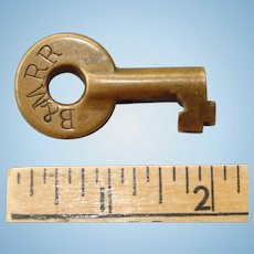 Vintage Boston & Maine Railroad Brass Switch Key B&MRR