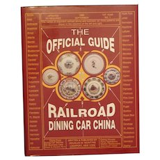 """Official Guide to Railroad Dining Car China"" (McIntyre) 1990 First Edition Hardcover Book Collector Guide"