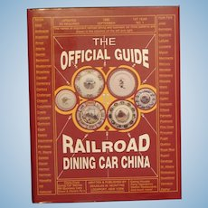 """""""Official Guide to Railroad Dining Car China"""" (McIntyre) 1990 First Edition Hardcover Book Collector Guide"""
