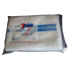 Unused Vintage Amtrak Railroad Passenger Blanket in Original Wrap