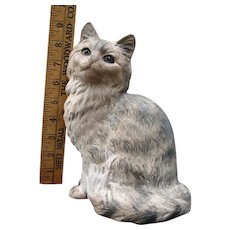 Expressive Double Marked Hubley Sitting Cat Cast Iron Doorstop Door Stop