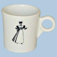 Vintage Fred Harvey Railroad China Waitress Mug Style Cup