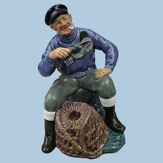 "Vintage Royal Doulton "" The Lobster Man "" China Fisherman Figurine"