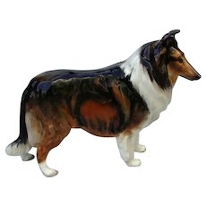 Vintage Rough Collie Dog China Figurine by Royal Doulton