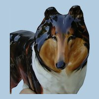 Exquisite Royal Doulton Medium Size Rough Collie Dog China Figurine HN1058