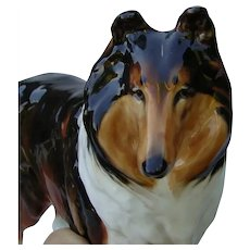 Incredible Royal Doulton Collie Dog China Figurine HN1058