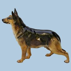 Vintage Superb German Shepherd Dog ( Alsatian ) Royal Doulton China Figurine
