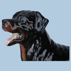 Vintage Royal Doulton Rottweiler Dog China Figurine 1990s