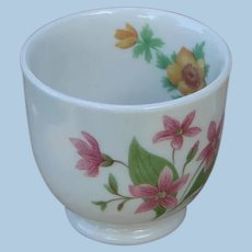 """Unusual Great Northern Railroad China """"Mountains & Flowers"""" Custard Cup"""