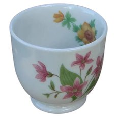 "Unusual Great Northern Railroad China ""Mountains & Flowers"" Custard Cup"