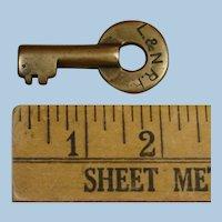 Antique ETFRAIM Louisville & Nashville Railroad Brass Key