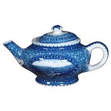 Gorgeous Baltimore & Ohio Railroad China Blue Centenary Pattern Tea Pot Teapot