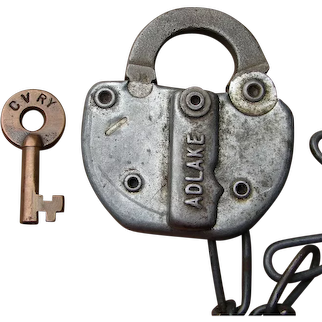 Central Vermont Railway Switch Key and Lock Set Railroad