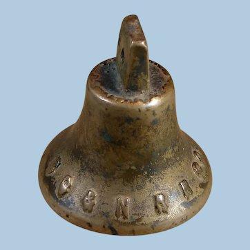 Antique Brooklyn City & Newtown Railroad Company 1800s Horsecar Bell