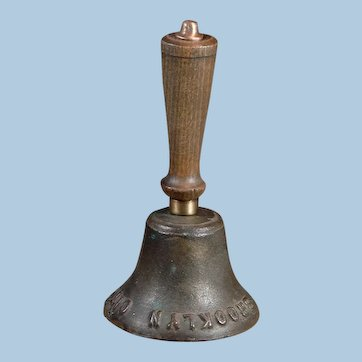 Antique Authentic Brooklyn City Railroad Conductor Hand Bell