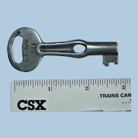"Earliest 1900s Lake Erie & Western Railroad Steel ""Oiler"" Type Reward Key"