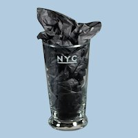 SEVERAL AVAILABLE:   Extra nice New York Central Railroad Tall Drinking Glass