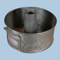 Unusual Small Swan's Down Cake Flour Slotted Tube Pan Patented 1923