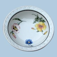 "TWO Southern Pacific Railroad ""Prairie Mountain Wildflowers"" Shallow Bowls - Sauce Dishes"