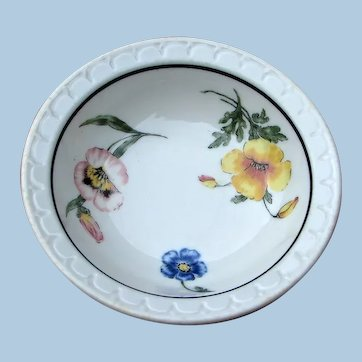 """TWO Southern Pacific Railroad """"Prairie Mountain Wildflowers"""" Shallow Bowls - Sauce Dishes"""