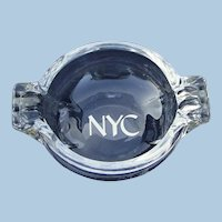 "Superb New York Central Railroad ""Lydian"" Glass Ash Tray"