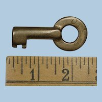 Early Pennsylvania Railroad Brass CA Pittsburg Division Switch Key