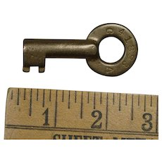 "Earlier Pennsylvania Railroad Brass ""CA"" Division Key"