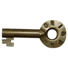 Vintage Rock Island Railroad Brass CRI&P Switch Key