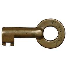 Vintage Pennsylvania Railroad Brass Division Key PRR