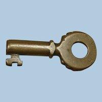 Early 1900s Pennsylvania Railroad Brass PRR Knobby Key by Fraim