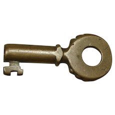 Early 1900s Pennsylvania Railroad Brass PRR Knobby Key by Fraim