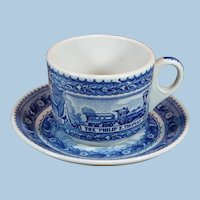 """Lovely Baltimore & Ohio Railroad """"Centenary"""" Cup and Saucer"""