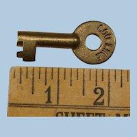 Mid-Century SOO LINE Railroad Brass Switch Key