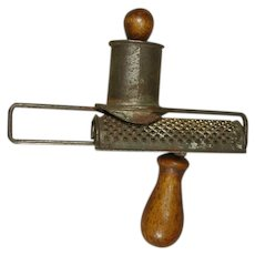 Unusual Two-Handled Sliding Nutmeg Grater